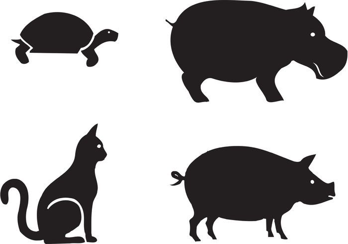 Free Animal Silhouettes Animal Silhouette Animals Animal Clipart