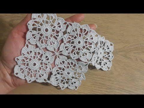 Tığişi Örgü Kare Dantel Motif yapımı, Masa Örtüsü & Crochet #crochetmotif