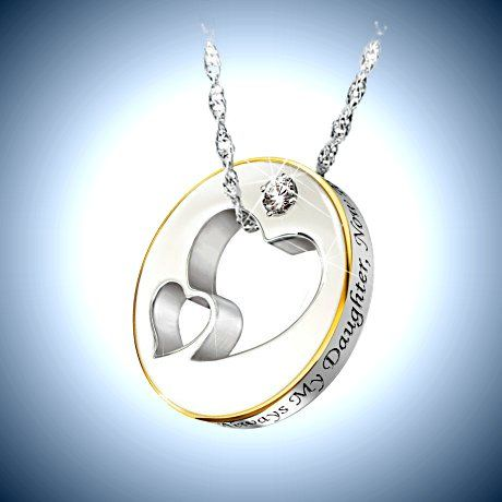 My daughter have i told you lately sterling silver and diamond my daughter have i told you lately sterling silver and diamond heart shaped pendant necklace jewelry faith and family pinterest diamond heart aloadofball Gallery