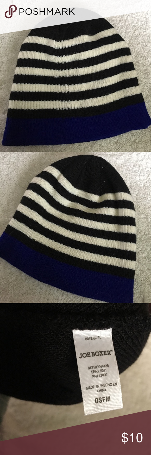 NWOT Joe Boxer Black Striped Beanie 🎉10% Off All Bundles!🎉 🎈BOGO 50% Off  All Items in Closet!🎈 NWOT never worn Joe Boxer beanie knit hat. 19899ac278e3