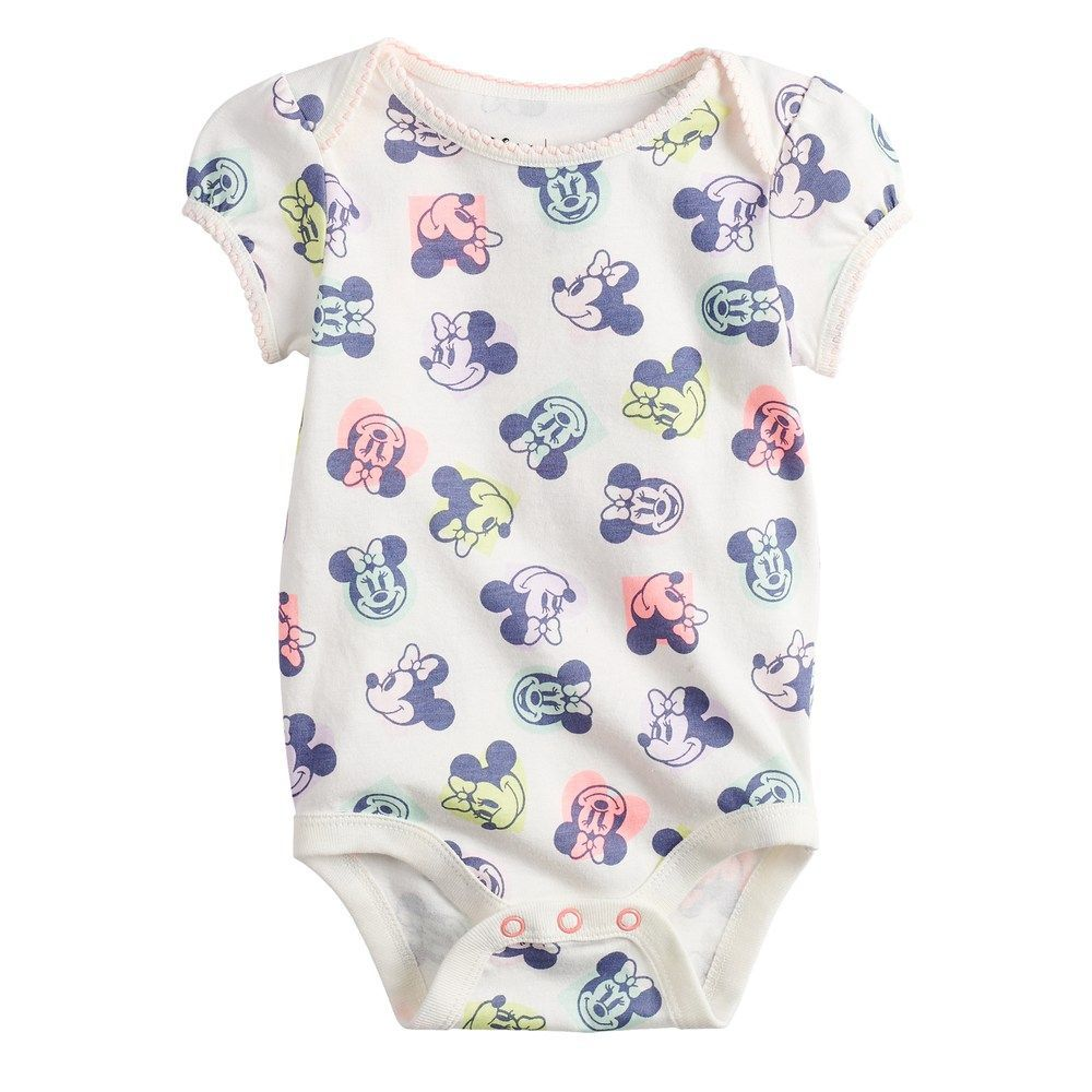 Disney's Minnie Mouse Baby Girl Bodysuit by Jumping Beans®, Size: 6 Months, White babymouse