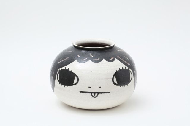 """Yoshitomo Nara """"Ceramic Works"""" exhibition 2010."""