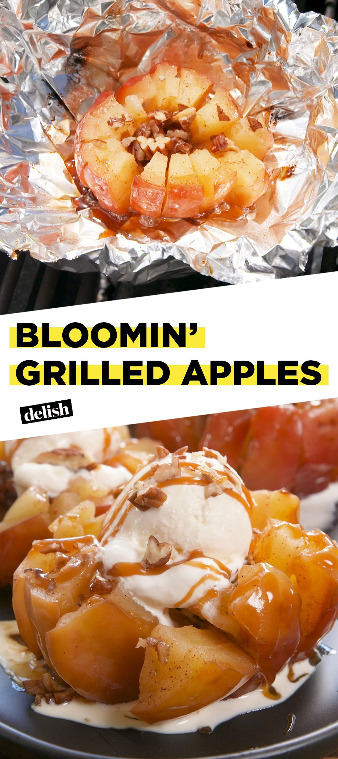 Bloomin' Grilled Apples #grilleddesserts