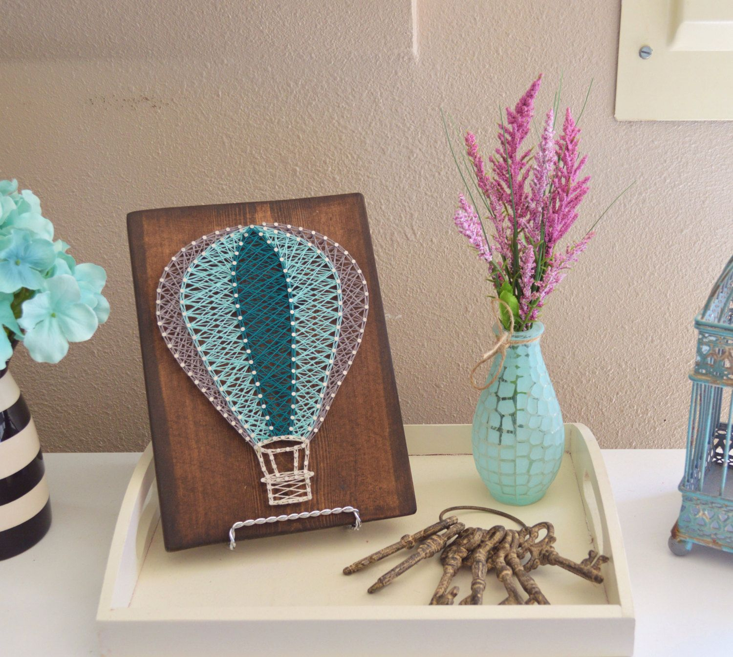 Uncategorized String Art Balloons hot air balloon string art nursery art