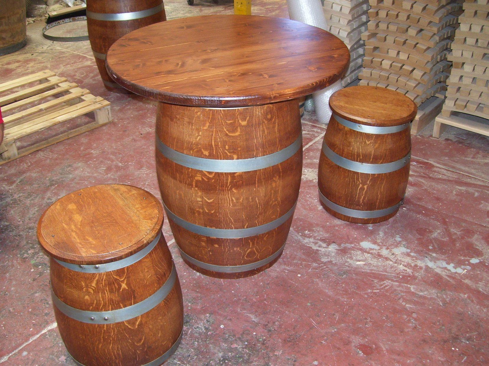 Botte Tavolo ~ 1444 botte tonneau da 500 litri usata in legno di rovere