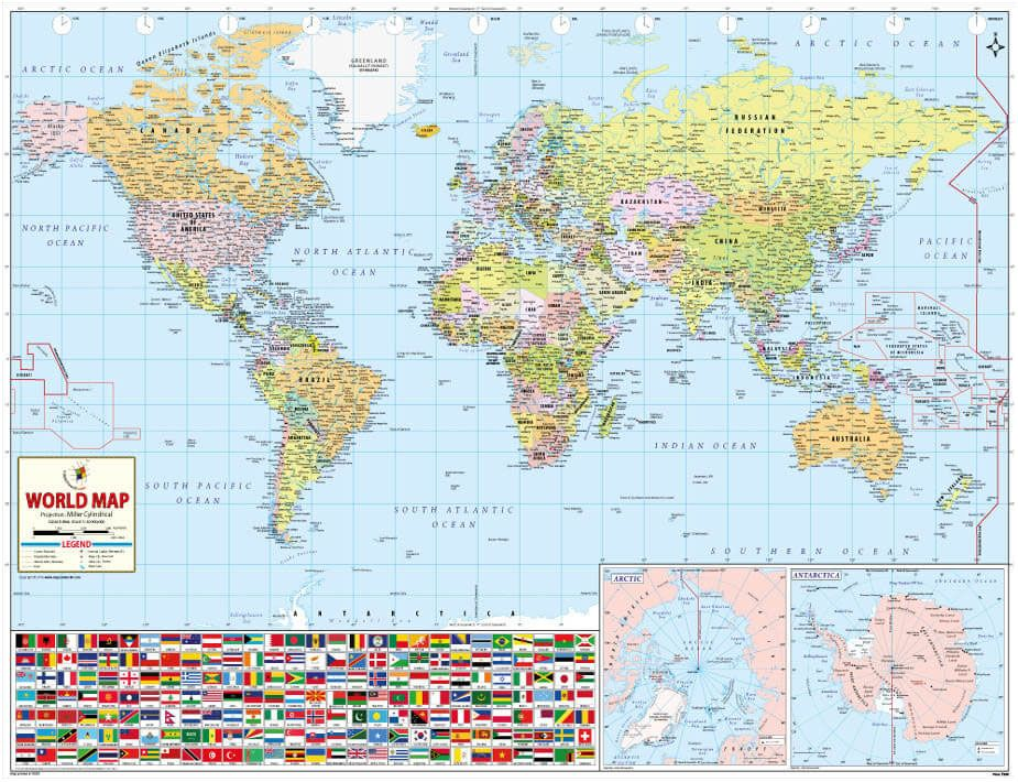Interactive to find features in each country mapping the world by buy world wall maps online from worldmapstore in different sizes at best printable quality gumiabroncs Image collections