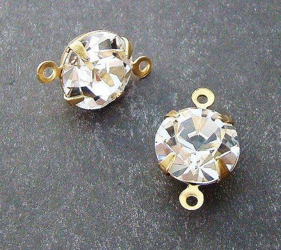 Vintage 11mm Clear Crystal Rhinestones in by alyssabethsvintage, $3.65
