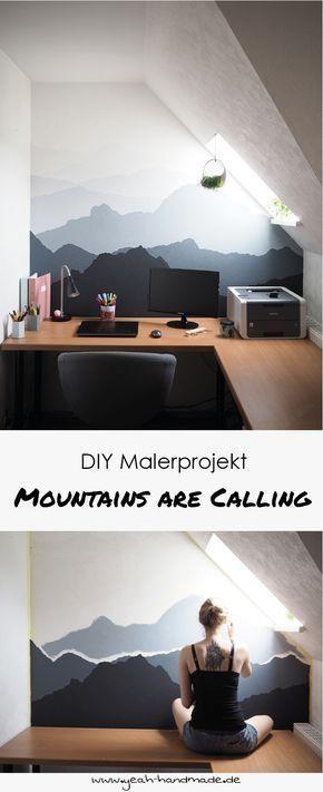 Best 12 DIY Malerprojekt: Berglandschaft an die Wand malen. Tipps und Anleitung, um Berge an die Wand zu malen auf yeah handmade. Informations About DIY Malerprojekt: Mountains are calling