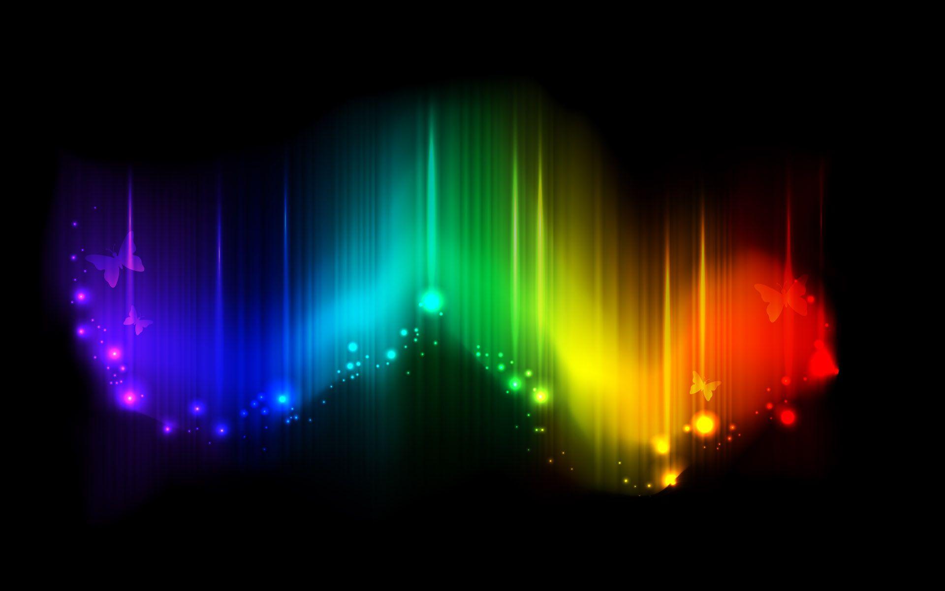 Fondo de luces de colores en fondos y pantallas for Luces de colores
