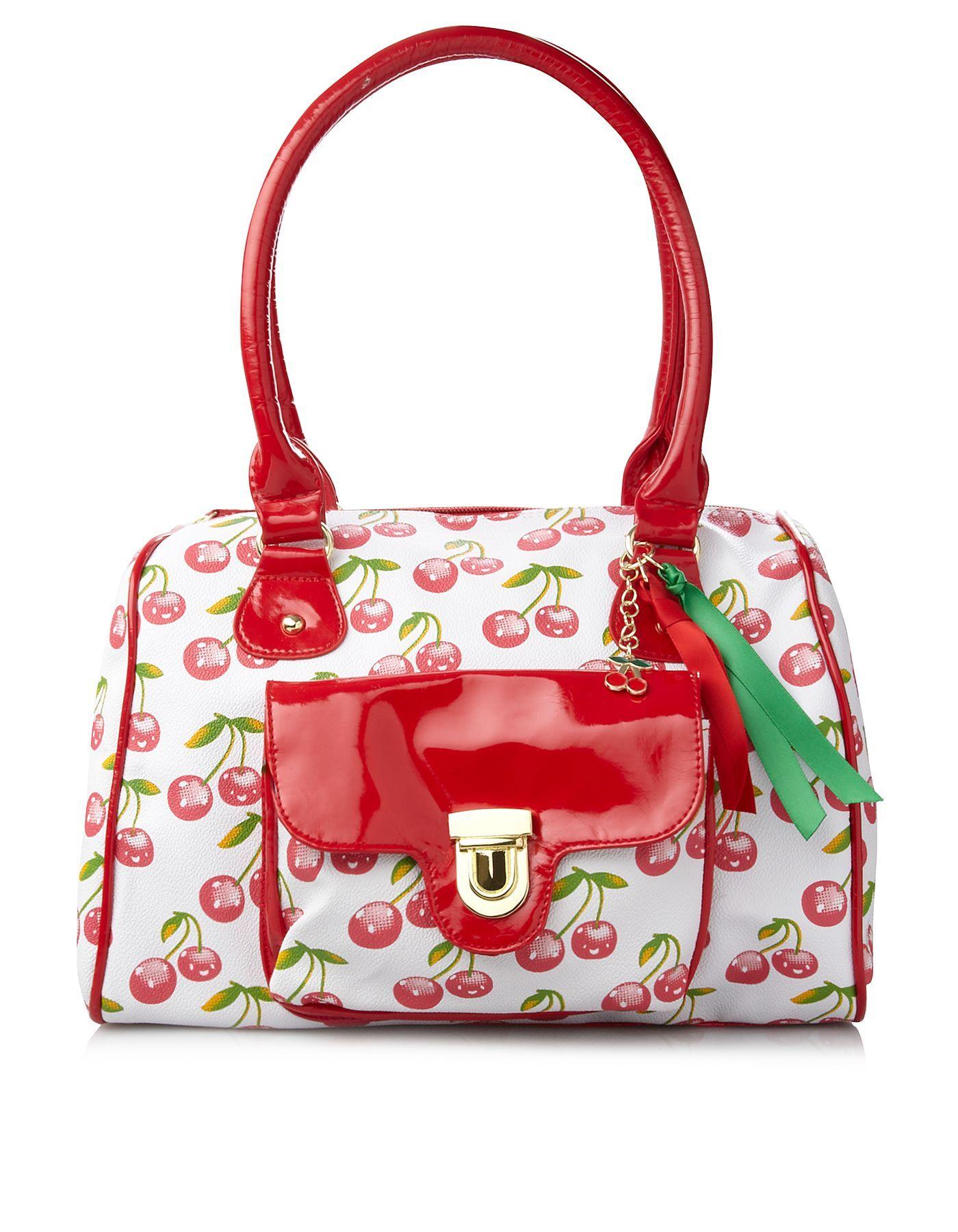Cherry Print Handbag | Cherry print, Printed handbags, Bags