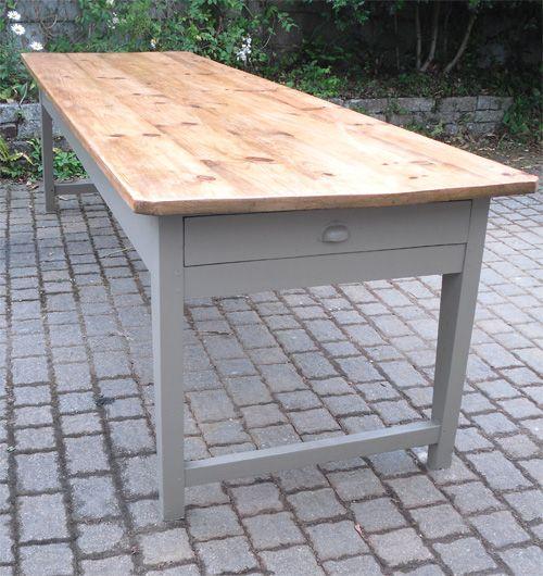 tres belle et grande table ancienne de ferme avec plateau. Black Bedroom Furniture Sets. Home Design Ideas