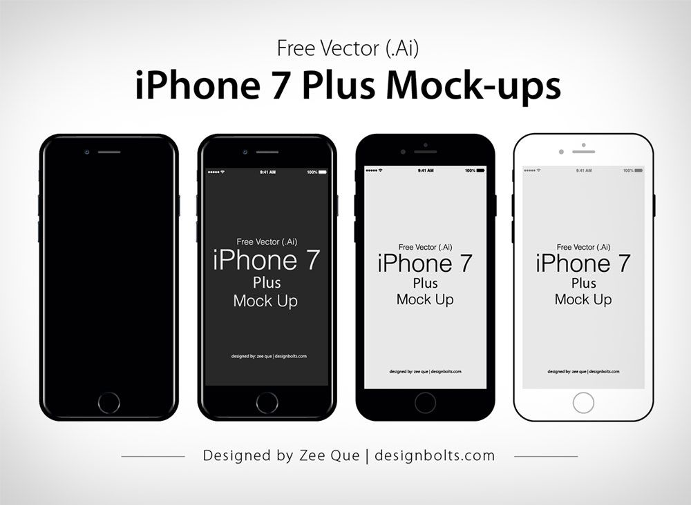 Download Free Vector Flat Official Apple Iphone 7 Plus Mock Up In Ai Eps Format Iphone Iphone 7 Plus Iphone 7