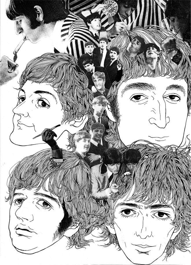 drawing THE BEATLES Revolver | drawing in 2019 | Beatles