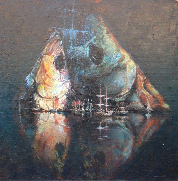 NEATSISPINDINTIS - Painting,  110x110 cm ©2015 by RIMAS GALECKAS -  Painting