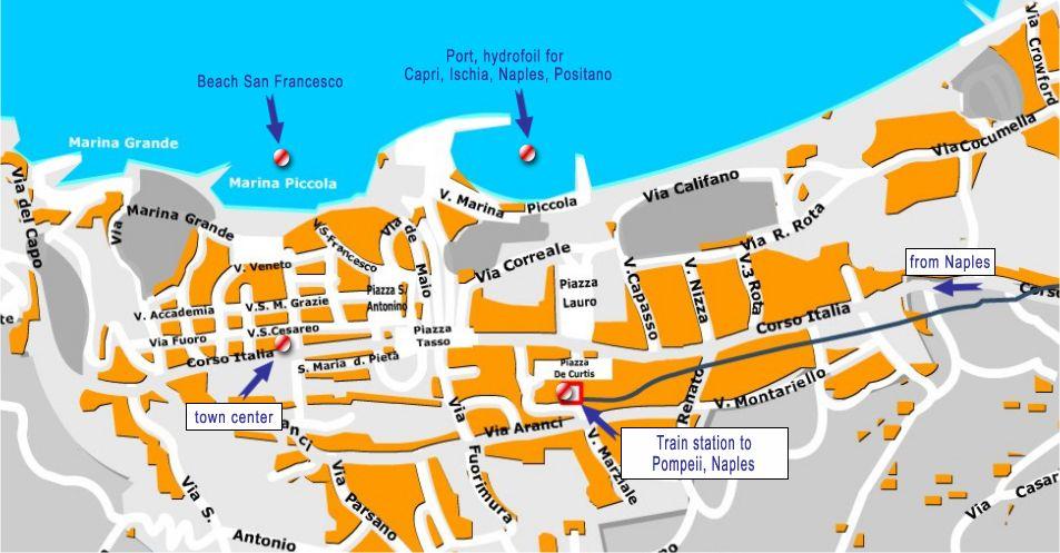 Sorrento Tourist Map Map of Sorrento Honeymoon 25th sept 2015