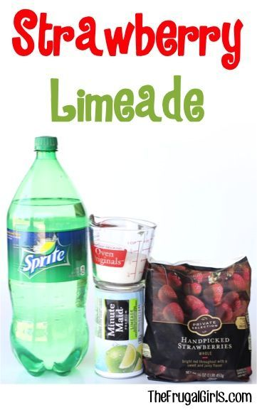 Strawberry Limeade recipe! ~ by  ~ Throw the FUN bomb at your …