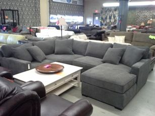 Jonathan Louis Radley 4 Piece Charcoal Sectional With Chaise