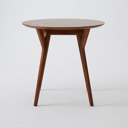 MidCentury Bistro Table Walnut Mid Century Midcentury Modern - Mid century modern bistro table