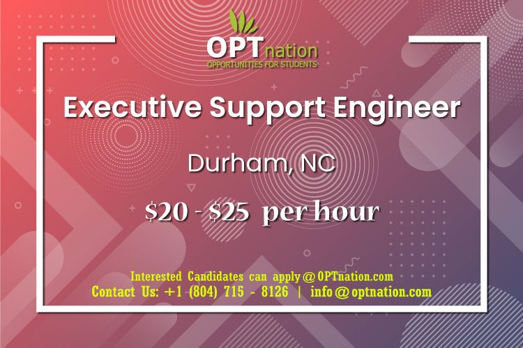We're Hiring Executive Support Engineer in Durham, NC in