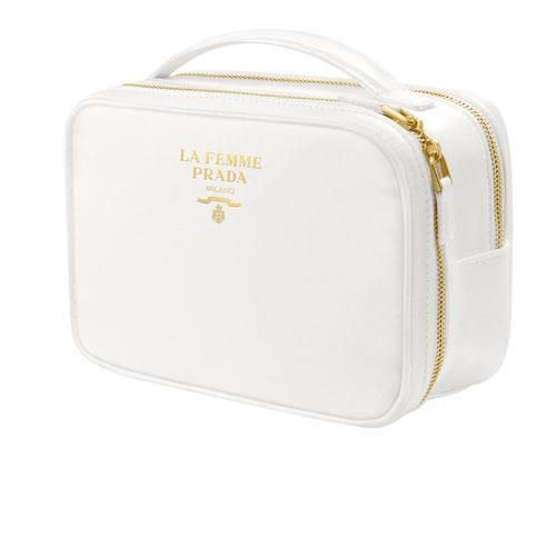 6e6307d97288 Makeup Bags and Cases: Prada La Femme White Pouch Vanity Cosmetic Bag  Toiletry Makeup Travel Case -> BUY IT NOW ONLY: $34.99 on eBay!