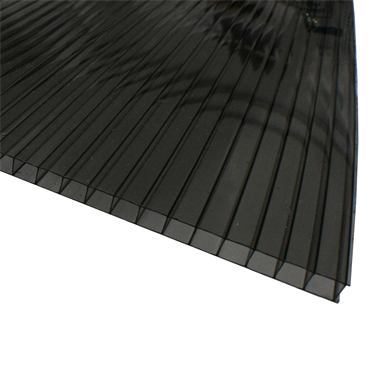 Suntuf Sunlite 8mm X 610mm X 3 0m Solar Grey Twinwall Polycarbonate Roofing In 2020 Roofing Wall Cladding Polycarbonate