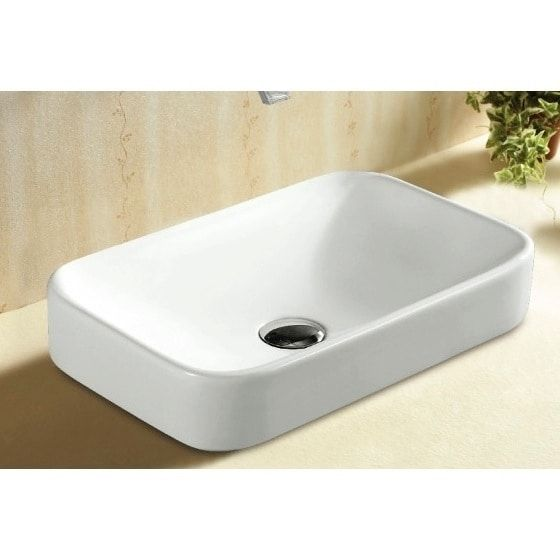 Caracalla Ca4120a No Hole Rectangular White Ceramic Self Riming Bathroom Sink Drop In Bathroom Sinks Sink Wall Mounted Bathroom Sinks