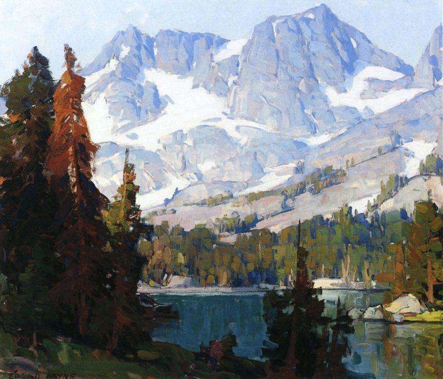 Mountain Lake By Edgar Payne Giclee Canvas Print Repro Landscape Paintings Landscape Lake Artwork
