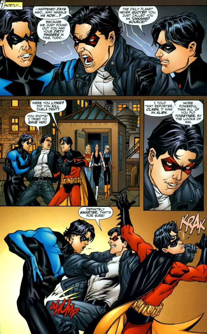 Nightwing, Robin, And Jason Todd - Teen Titans 47 Some -3821