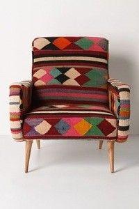 mobilier fauteuil en kilim losanges rock the kasbah philippe xerri ethnique tribal. Black Bedroom Furniture Sets. Home Design Ideas