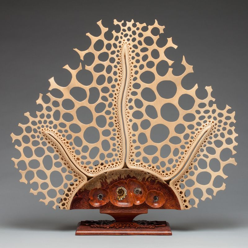 Mark henry doolittle wood sculpture symbiosis quot amboyna