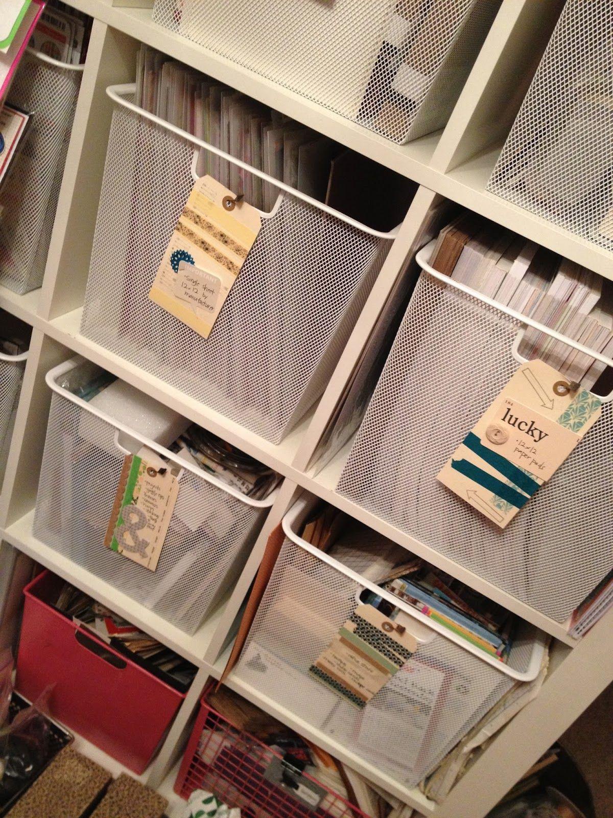12x12 Paper Pad Storage Ideas   Google Search