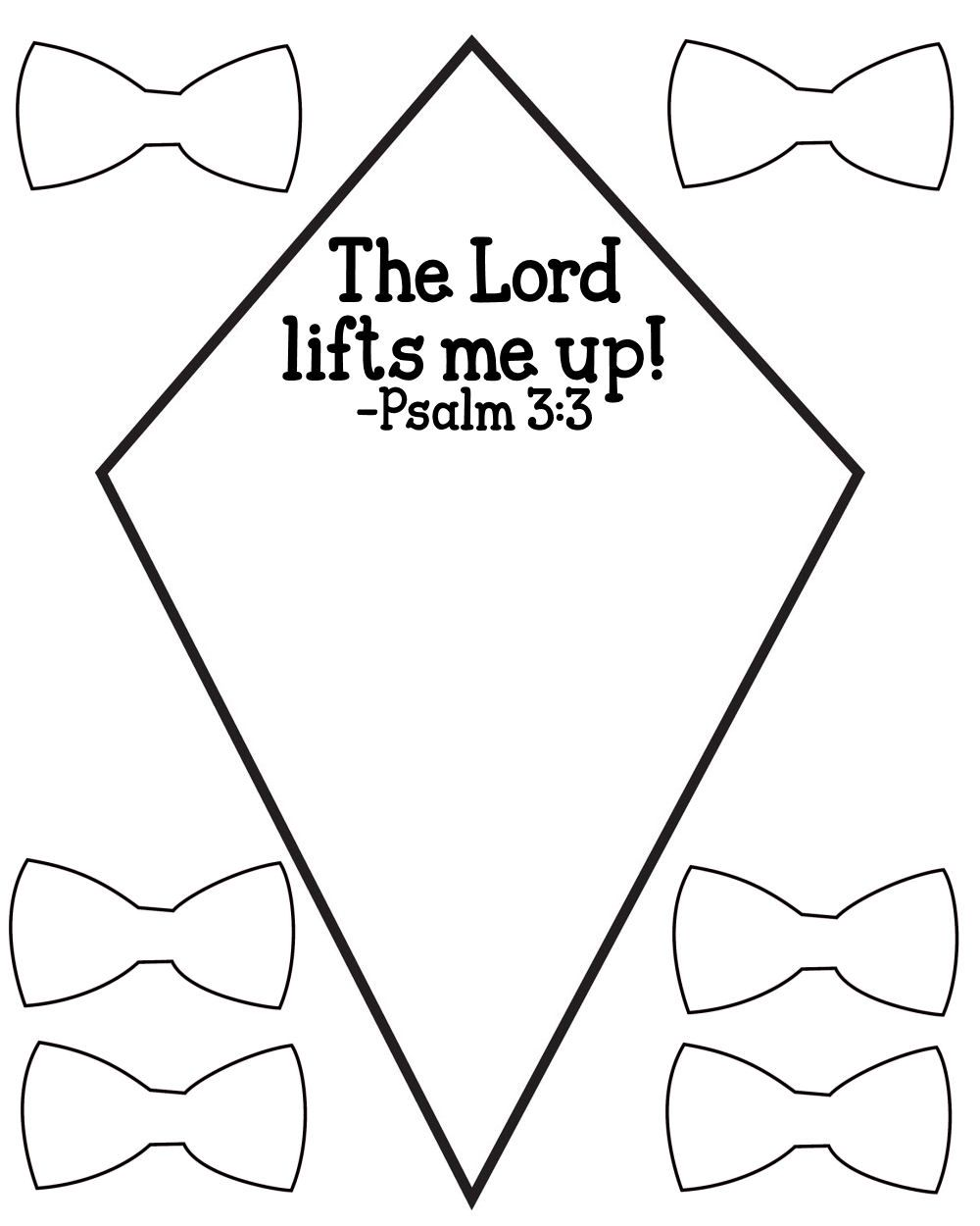 Sunday school crafts for preschool - Free Psalm 3 3 Kids Bible Lesson Activity Printables Mysunwillshine Com