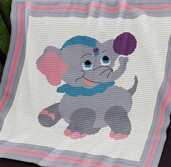 Gehaakte Baby deken / Afghaanse patroon.  DIT PATROON IS ALLEEN IN HET ENGELS. ----------------------------------------------------------------------  Materialen: elk merk DK garen volgens een patroon, 4,0 mm haaknaald nodig, garen, naald.  Afgewerkt grootte aprox.: 34.5(86 cm) x 34.5(86 cm). Grotere rand moet worden gemaakt om de grootte van een deken (instructies zijn inbegrepen).  Spoorwijdte: 18 dc(UK) of 18 sc(USA) en 22 rijen = 10 cm.  Dit patroon is beschikbaar voor onmiddellijke…