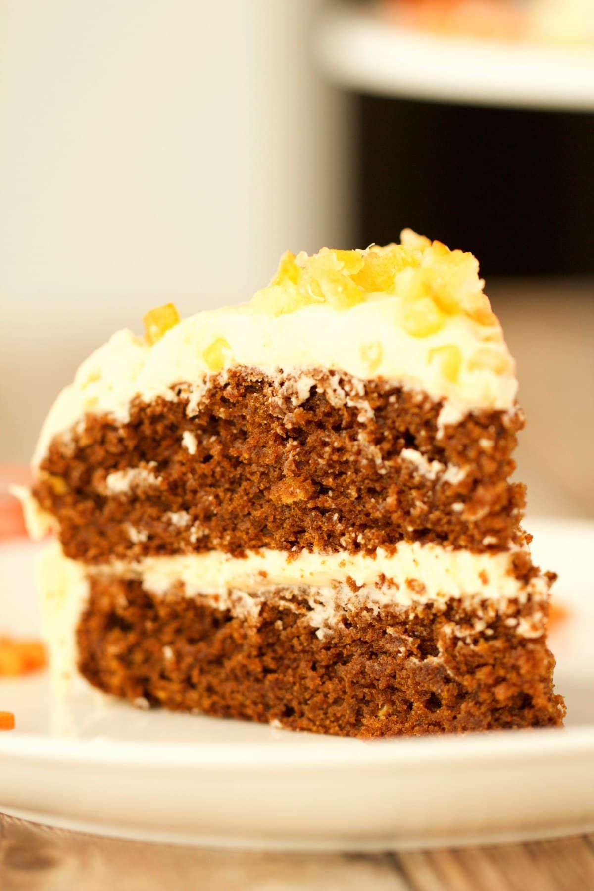 Perfectly Flavored Gingerbread Cake With Orange Frosting This Gorgeous Vegan Cake Is Rich Moist And Pack Orange Frosting Vegan Gingerbread Vegan Coffee Cakes