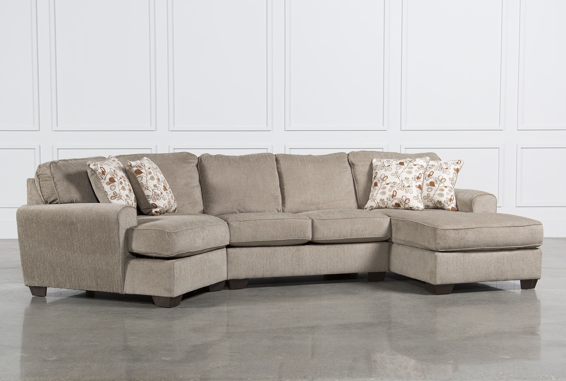 Patola park 3 piece cuddler sectional w raf cornr chaise for Sectional sofa with chaise and cuddler