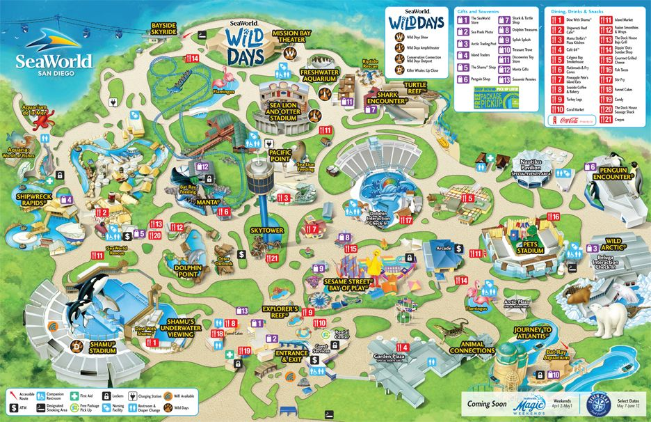 Seaworld San Diego Map Pdf.Park Map Seaworld San Diego Road Trip Traveling Pinterest