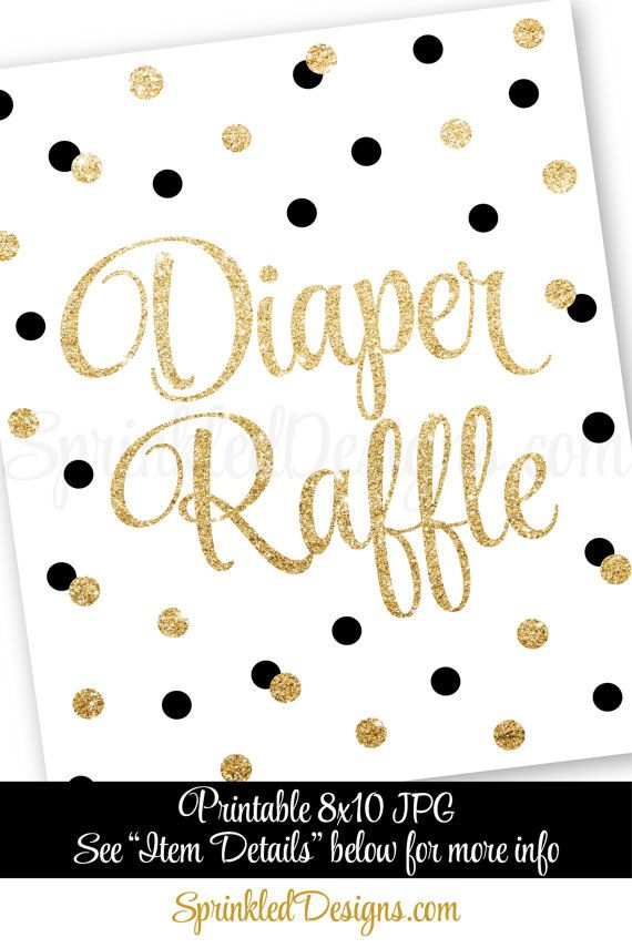 printable diaper raffle tickets sign for baby by sprinkleddesign