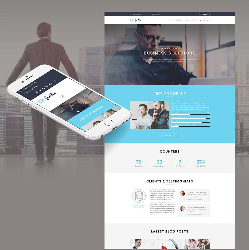 Facilis responsive website template business website templates facilis responsive website template motocms accmission Images