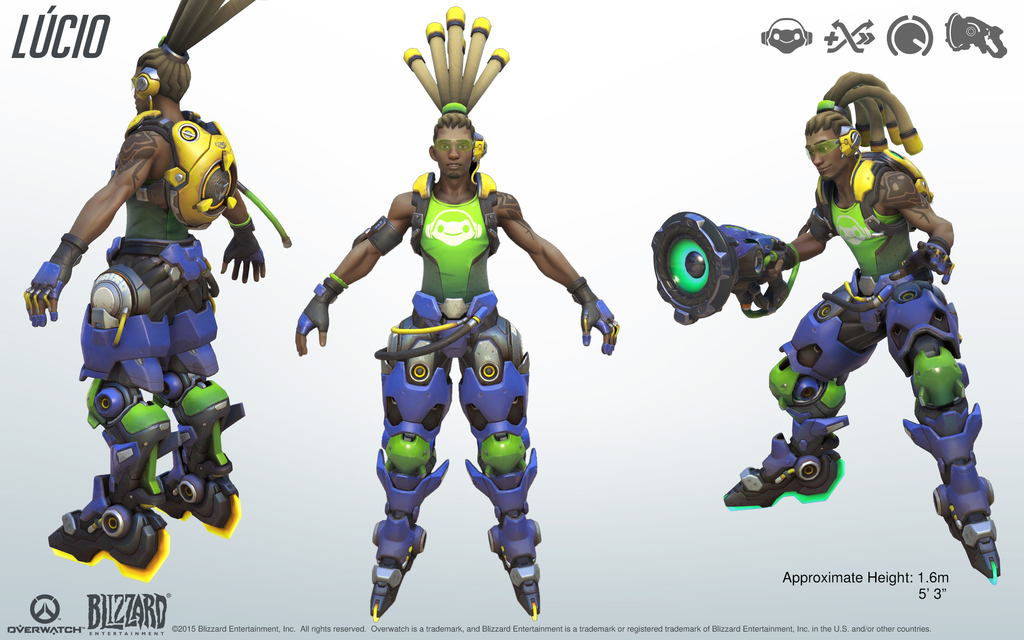 Lucio Overwatch Close Look At Model Overwatch Overwatch Tracer Character Modeling