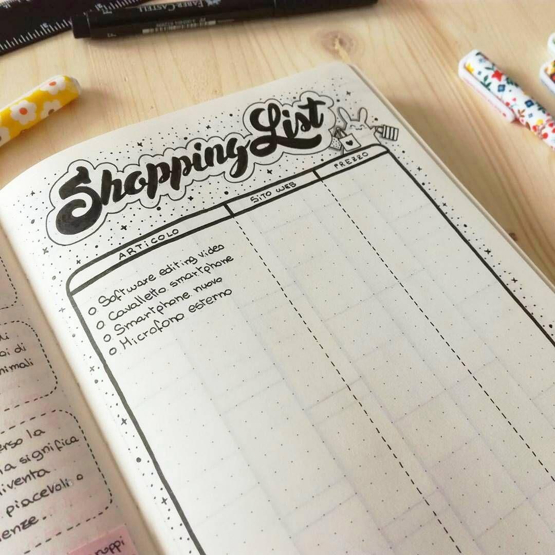 Image result for shopping list planner journal