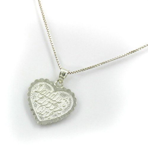 """Sterling Silver """"Daddy's Little Girl"""" Heart Pendant with 18'' Chain Necklace Erika Collection http://www.amazon.com/dp/B004A9XTW8/ref=cm_sw_r_pi_dp_f8Nhub0HKMP6X"""