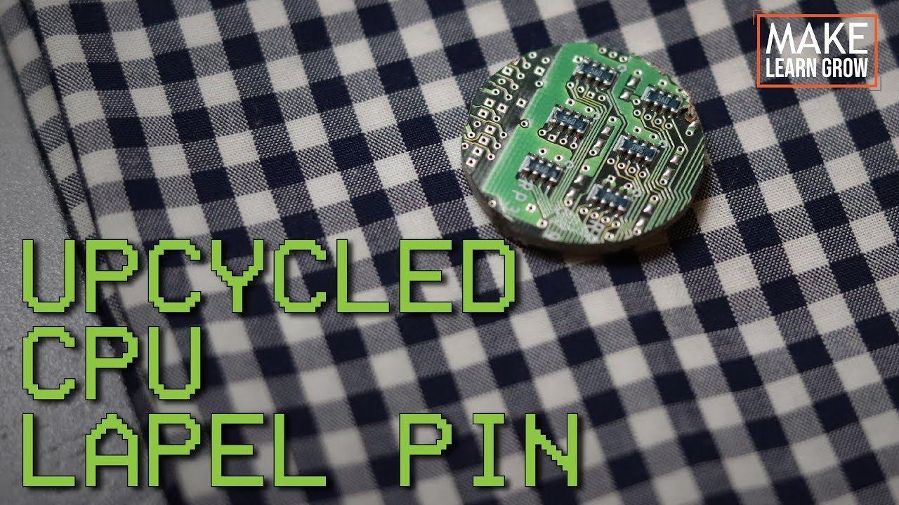 CPU Lapel Pin Wooden Pin