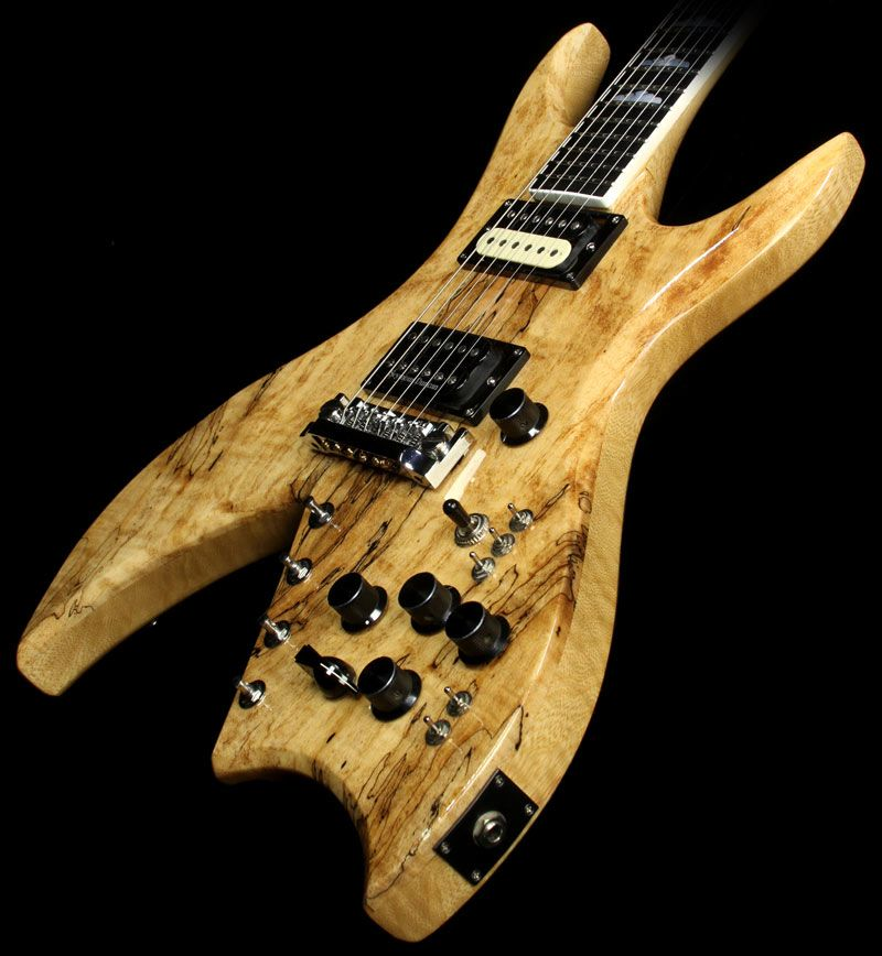 used b c rich usa one off korina bich spalted top 10 string electric guitar other brands. Black Bedroom Furniture Sets. Home Design Ideas