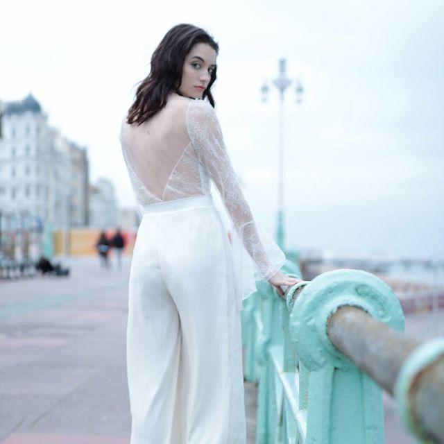 A modern alternative to a wedding dress: Our Dara trousers   Modern ...
