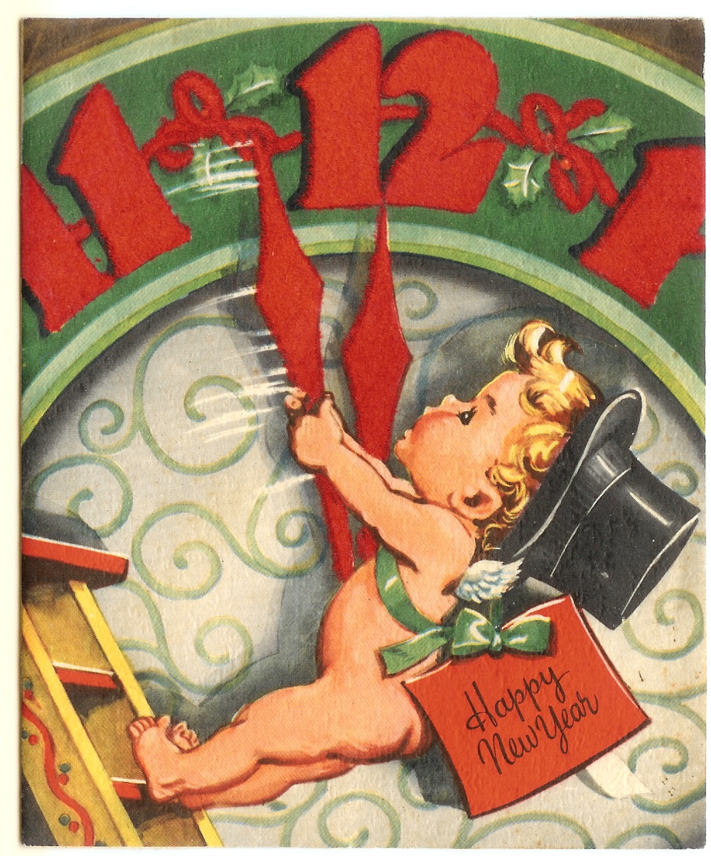 My Vintage Soul Vintage Happy New Year Vintage Holiday Cards Vintage Christmas Cards