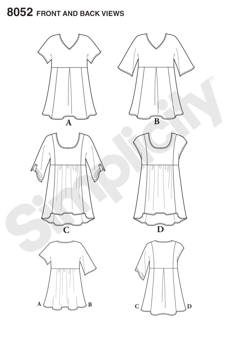 176dd4b4c37f9 Purchase Simplicity 8052 Misses  Easy-to-Sew Tops and read its pattern  reviews. Find other Easy to Sew