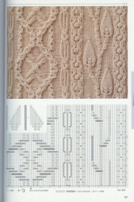 Intricate Charted Knitting Pattern Yaponskie Uzory Uzor Dlya