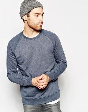 ASOS+Sweatshirt+With+Crew+Neck+And+Raglan+Sleeves