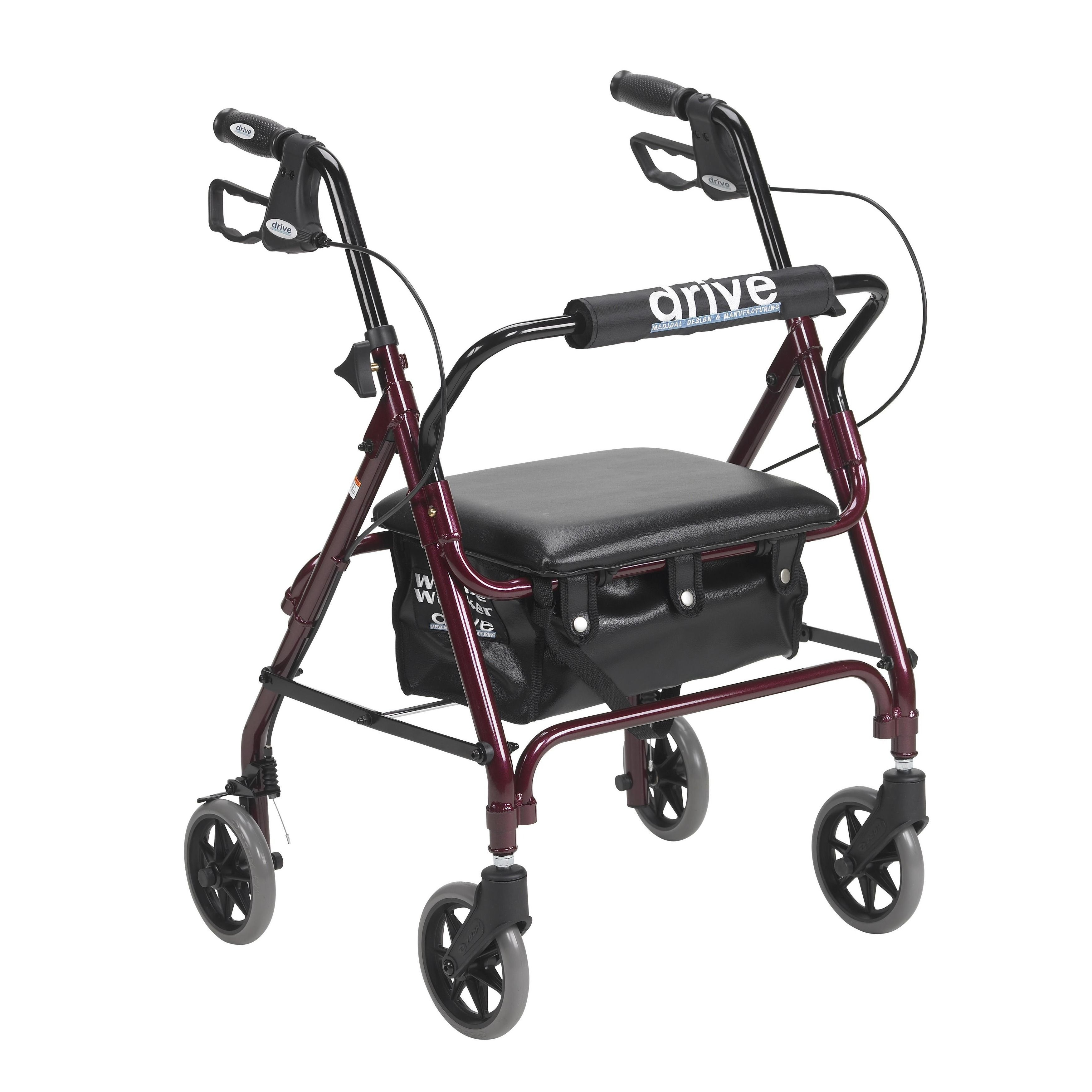 Drive Medical Junior Rollator Rolling Walker with Padded