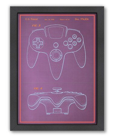 Take a look at this joystick blueprint framed wall art by take a look at this joystick blueprint framed wall art by americanflat on zulily today malvernweather Image collections